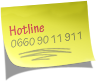 Post-it mit Hotline